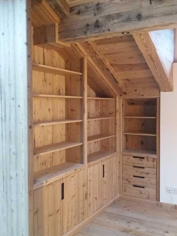 Einbaumöbel in komplizierten Dachschrägen, Abb.2